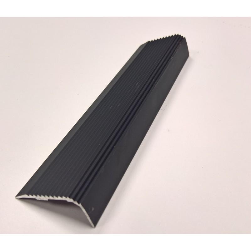 Nez de marche en aluminium anodisé noir