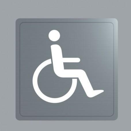 Plaque Inox Handicapé