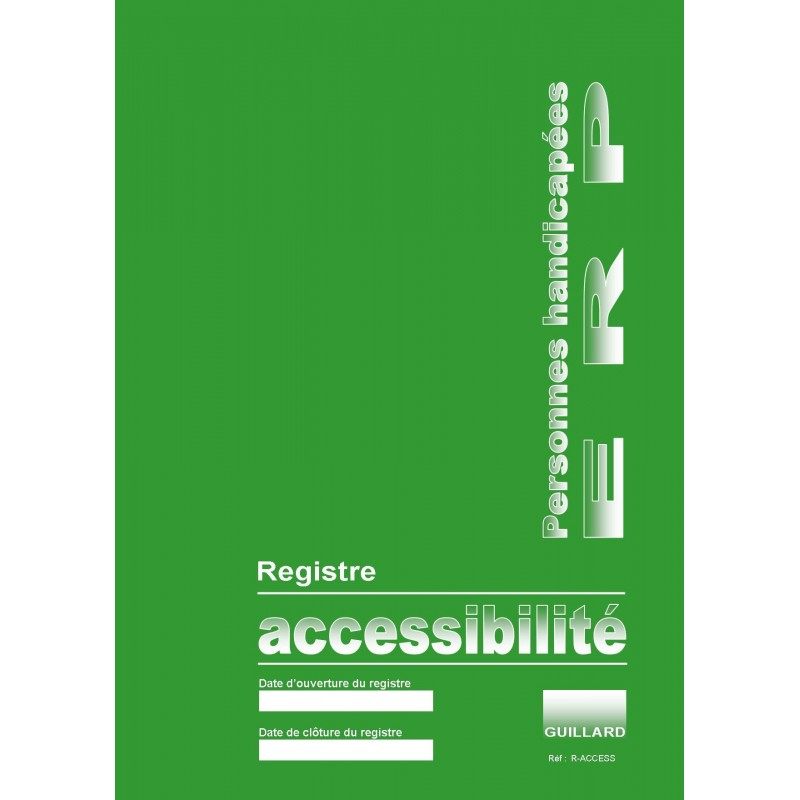 Registre public d'accessibilité - autodiagnostic