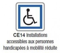 Panneau extérieur accessibilité erp