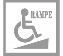 Pochoir de signalétique cheminement pour l'accessibilité de l'ERP