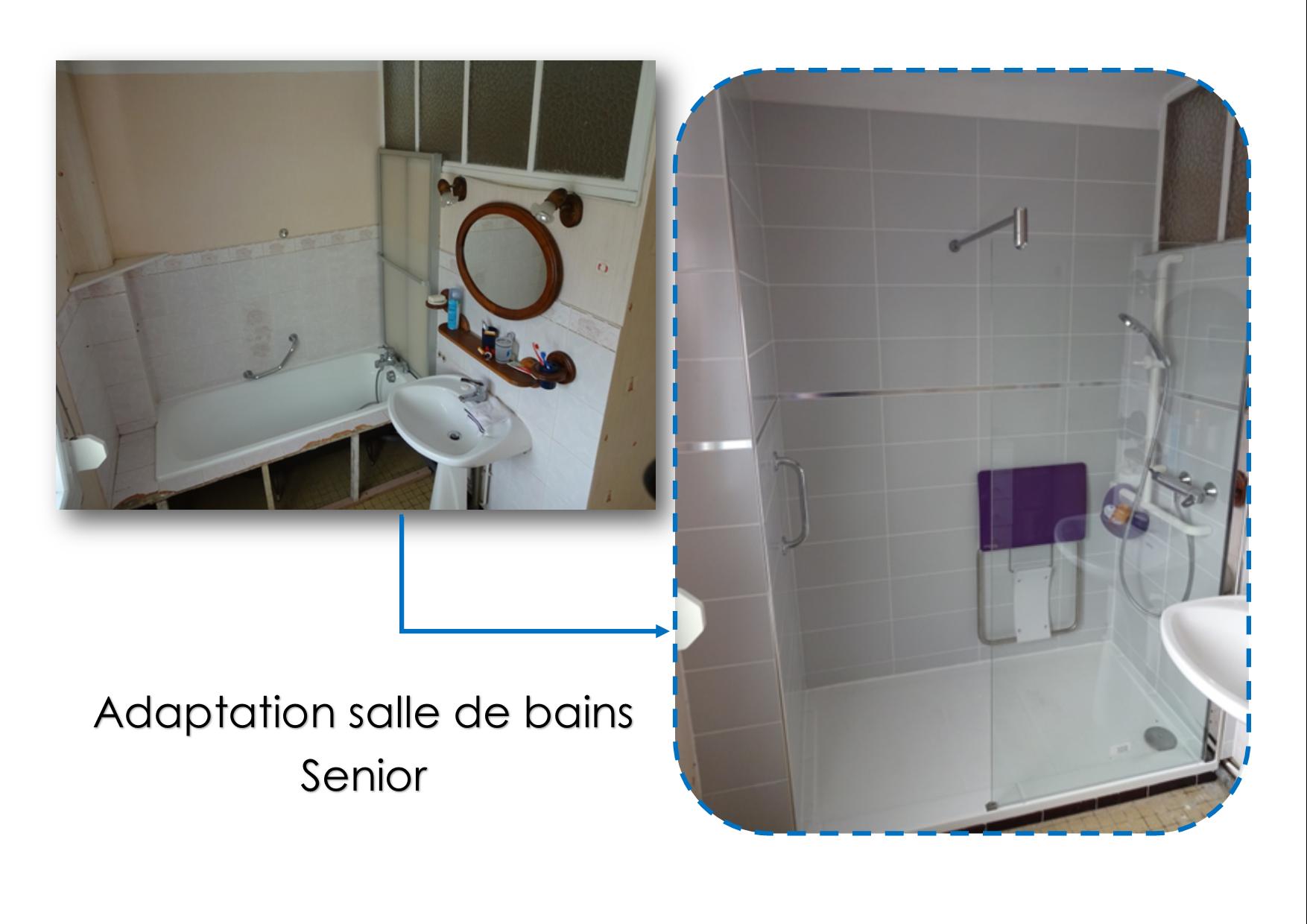 Adaptation salle de bain senior